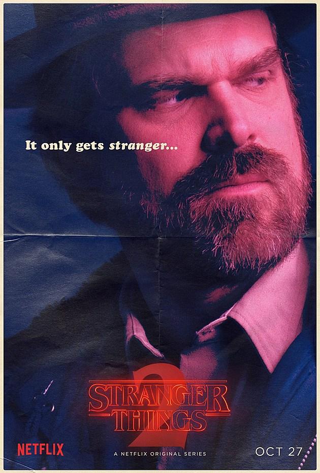 Stranger Things Season 2 Poster Hopper