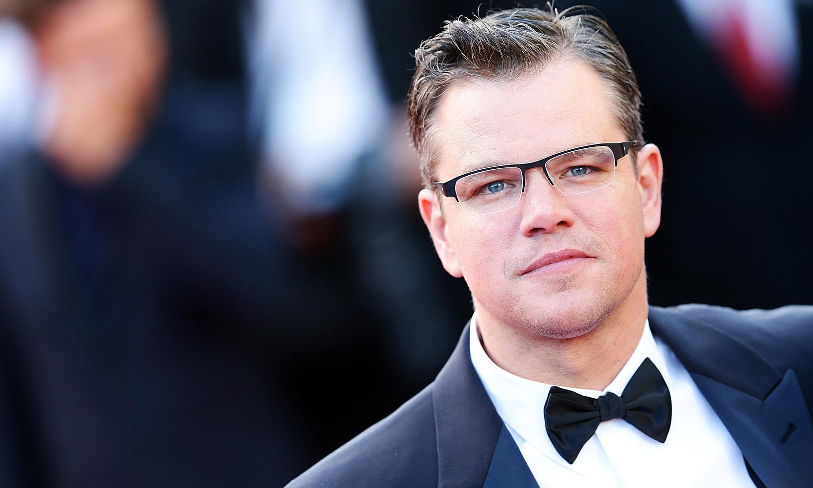 Matt Damon tuxedo bow tie