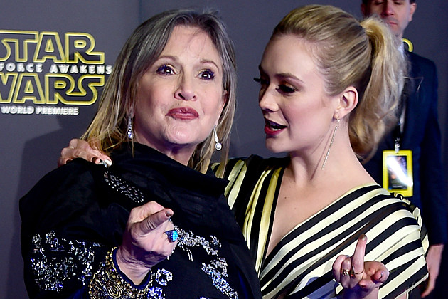 Star Wars The Force Awakens Carrie Fisher Billie Lourd