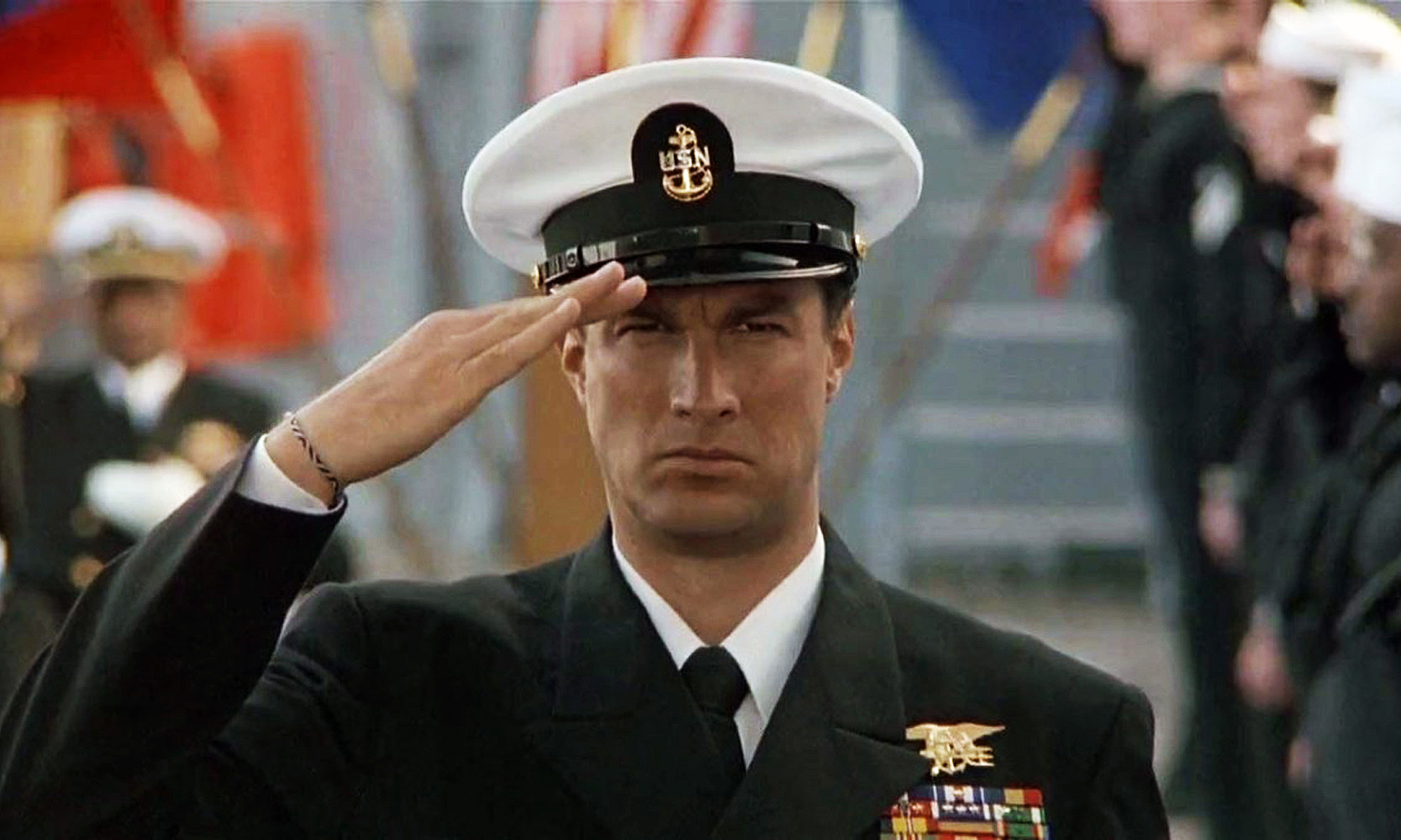 Steven Seagal Under Siege salute