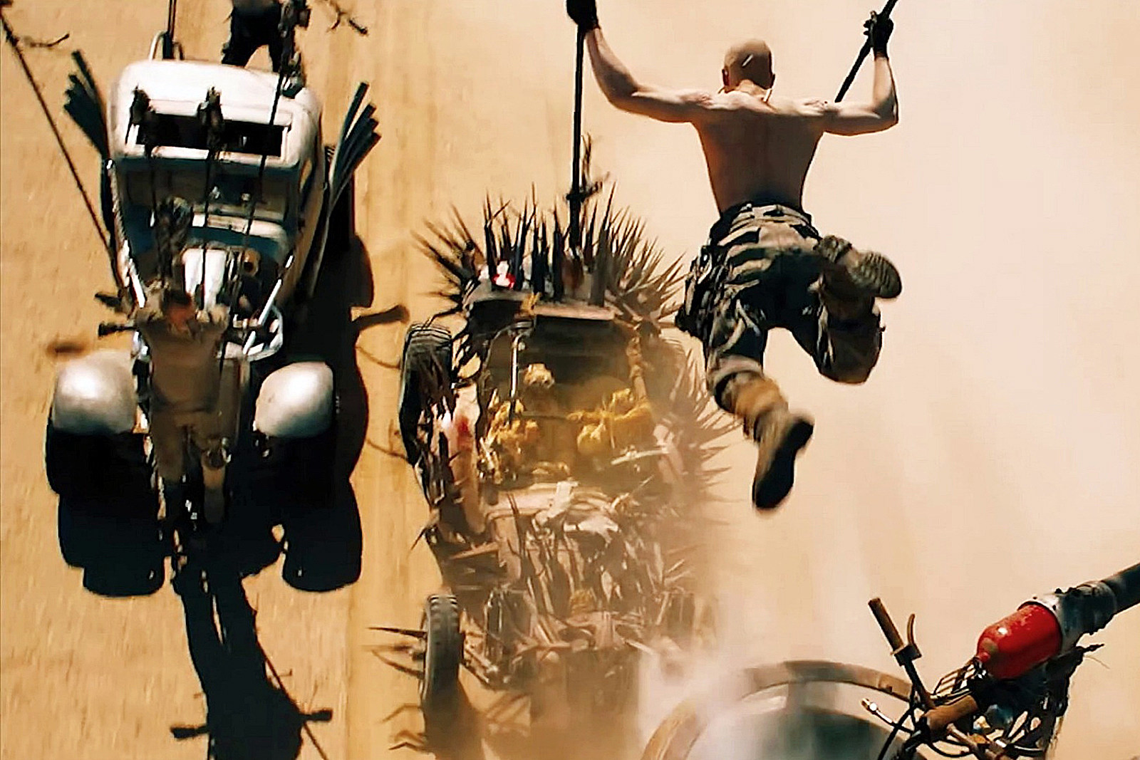 Mad Max Fury Road stunts