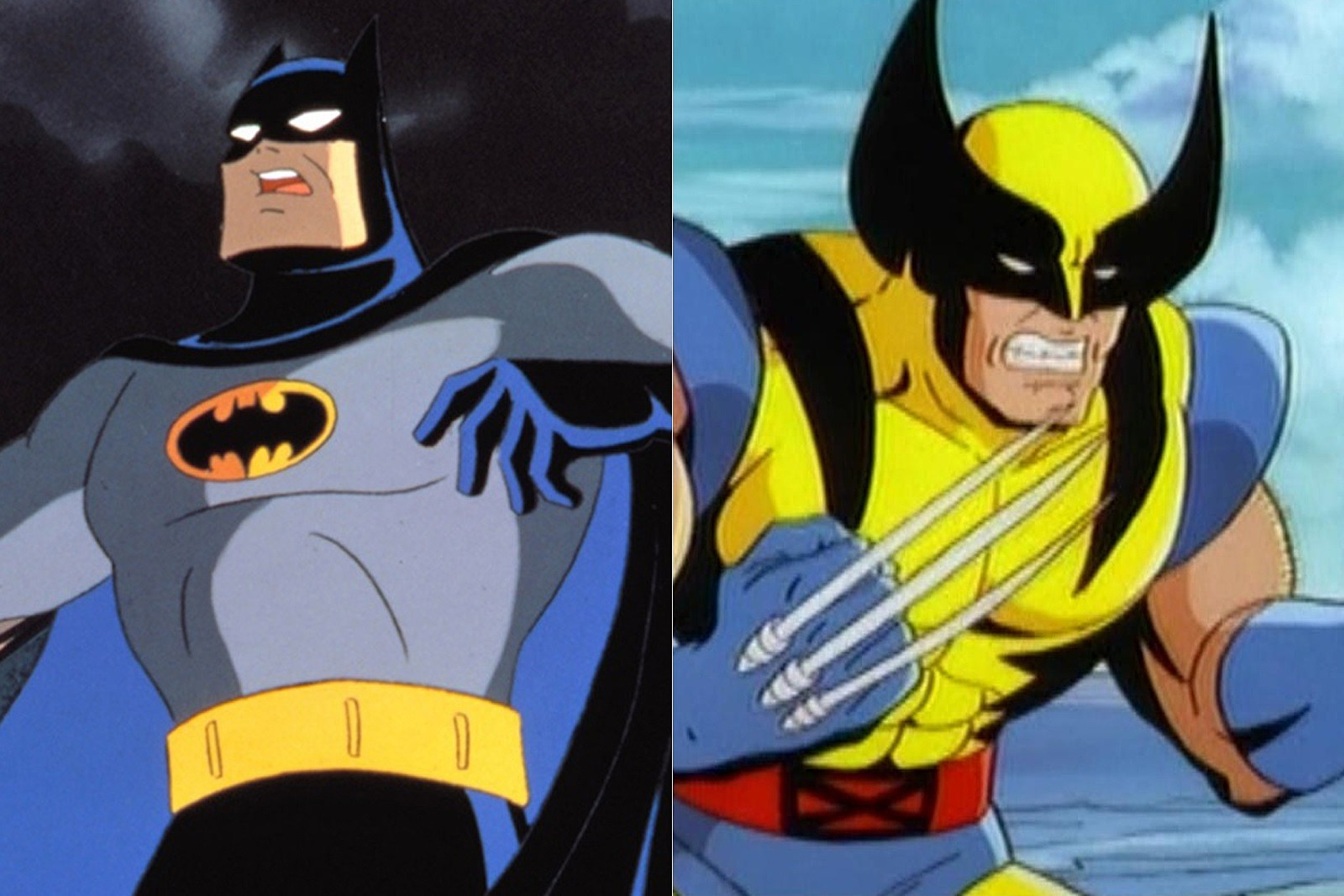 Batman from the Batman The Animated Series/DCAU. Wolverine from X-Men the Animated Series.