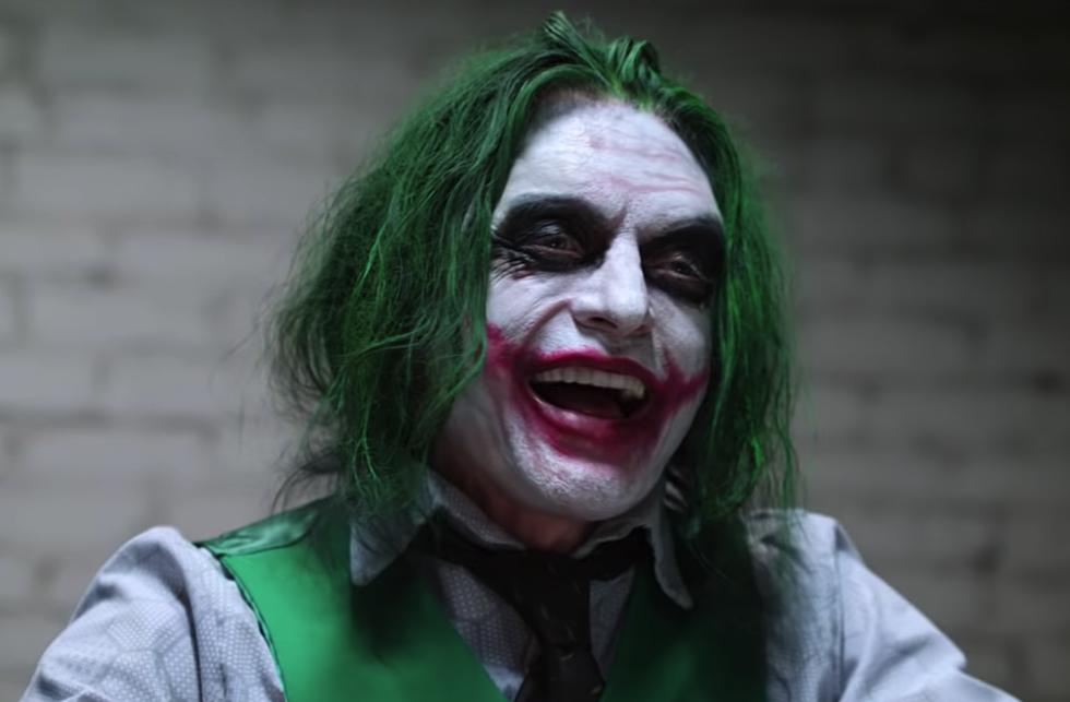 tommy wiseau still really wants to play the joker so he recreated a dark knight scene